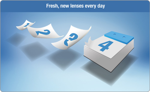 Daily Disposable Contact Lenses for a fresh new lens every day