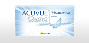 Pack of 6 re-usable lenses. ACUVUE® OASYS Contact Lenses with HYDRACLEAR® PLUS and UV Blocking.